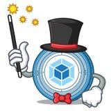 Magician webpack coin mascot cartoon. Vector illustration Royalty Free Stock Image