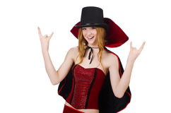 Magician woman with wand Stock Image