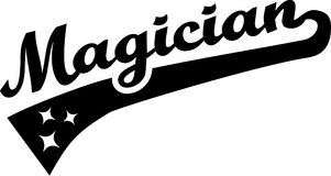 Magician Word vector. Occupation magic Royalty Free Stock Images
