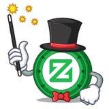 Magician Zcoin mascot cartoon style. Vector illustration Stock Images