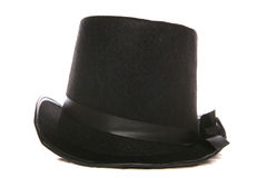 Magicians top hat. Studio cutout Royalty Free Stock Image