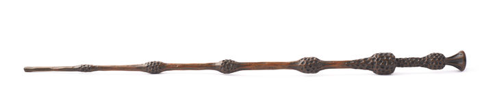 Magicians wand made of plastic wood Royalty Free Stock Image
