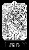 Magicican ilustração stock