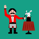 Magicien avec le lapin illustration de vecteur