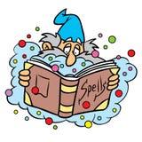 Magicien avec le livre de charme Images libres de droits