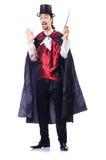 Magicien avec sa baguette magique magique Image libre de droits