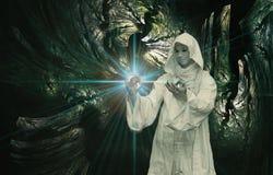 Magicien blanc Images libres de droits