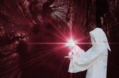 Magicien blanc Image libre de droits