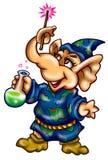 Magicien d'éléphant illustration de vecteur