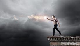 Magicien d'homme Photographie stock libre de droits