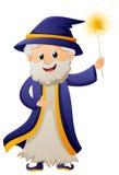 Magicien dans la robe longue bleue illustration de vecteur