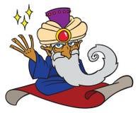 Magicien de bande dessinée de l'est illustration de vecteur