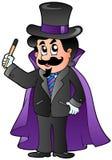 Magicien de dessin animé illustration stock