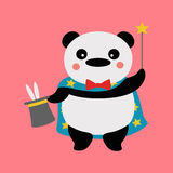 Magicien de panda illustration stock