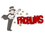 Magicien de résolution des problèmes illustration stock