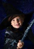 Magicien de Veille de la toussaint Photographie stock