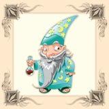 Magicien drôle Photos libres de droits