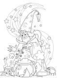 Magicien effectuant un breuvage magique illustration libre de droits
