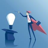 Magicien et idée d'homme d'affaires illustration libre de droits