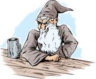 Magicien fâché illustration de vecteur