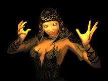 Magicien féminin illustration stock