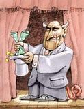 Magicien financier illustration stock