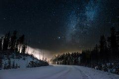 Magiczna Śnieżna droga Zdjęcie Stock