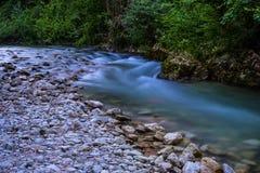 Magiczna błękitna rzeka Fotografia Stock