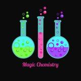 Magiczna chemia Zdjęcia Royalty Free
