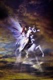 Magiczna czarodziejka w niebach obrazy royalty free