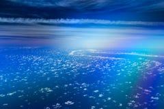 Magiczna droga w niebie Obraz Royalty Free