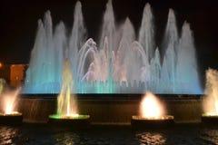 Magiczna fontanna Barcelona Obraz Royalty Free