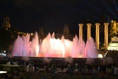 Magiczna fontanna Barcelona Fotografia Stock