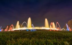 magiczna fontanna barcelona Zdjęcie Royalty Free