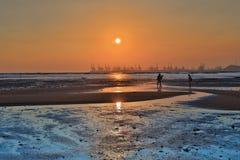 Magiczna godzina przy brzęczenia Pak Nai 2016 fotografia royalty free