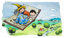 Magiczna latanie książka ilustracji