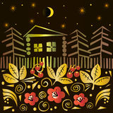Magiczna lato noc royalty ilustracja