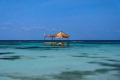 Magiczna Tropikalna Maldives noc zdjęcie royalty free