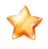 Magiczna złocista glansowana gwiazda odizolowywająca Obrazy Royalty Free