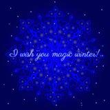 Magiczna zimy pocztówka Zdjęcia Royalty Free