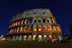 magiczne colosseum noc Rome obraz royalty free