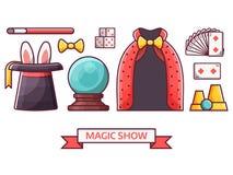 Magiczne przedstawienie ikony ilustracja wektor