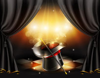 Magiczne sztuczki, tło Obrazy Royalty Free