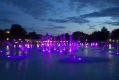 Magiczne wieczór fontanny Obrazy Stock