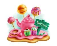 Magiczni cukierki dla herbacianego przyjęcia Obrazy Stock