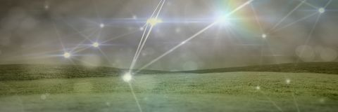 Magiczni lekcy związki z traw wzgórzami Obraz Stock