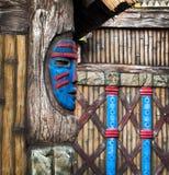Drewniana poganin maska Obrazy Royalty Free