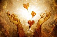 Magiczni serca zdjęcie stock