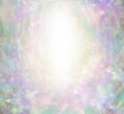 Magiczny Anielski lśnienie granicy tło Obraz Stock