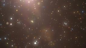 Magiczny cząsteczki tło, piękna bezszwowa zapętlająca 3d animacja z głębią pole 4 K ilustracji